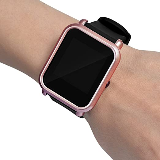 Amazon.com: HiGOGO Slim PC Fashion Protection Case Cover for Xiaomi Huami Smart Watch - PC Protection Silicone Slim Fit Full Case Cover for Huami Amazfit ...
