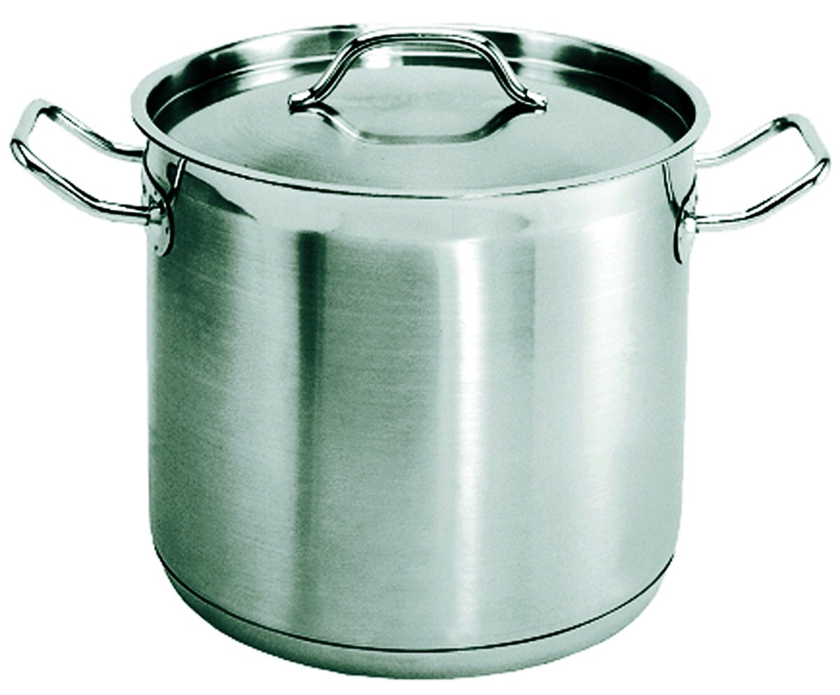 Update International (SPS-8) 8 Qt Induction Ready Stainless Steel Stock Pot w/Cover
