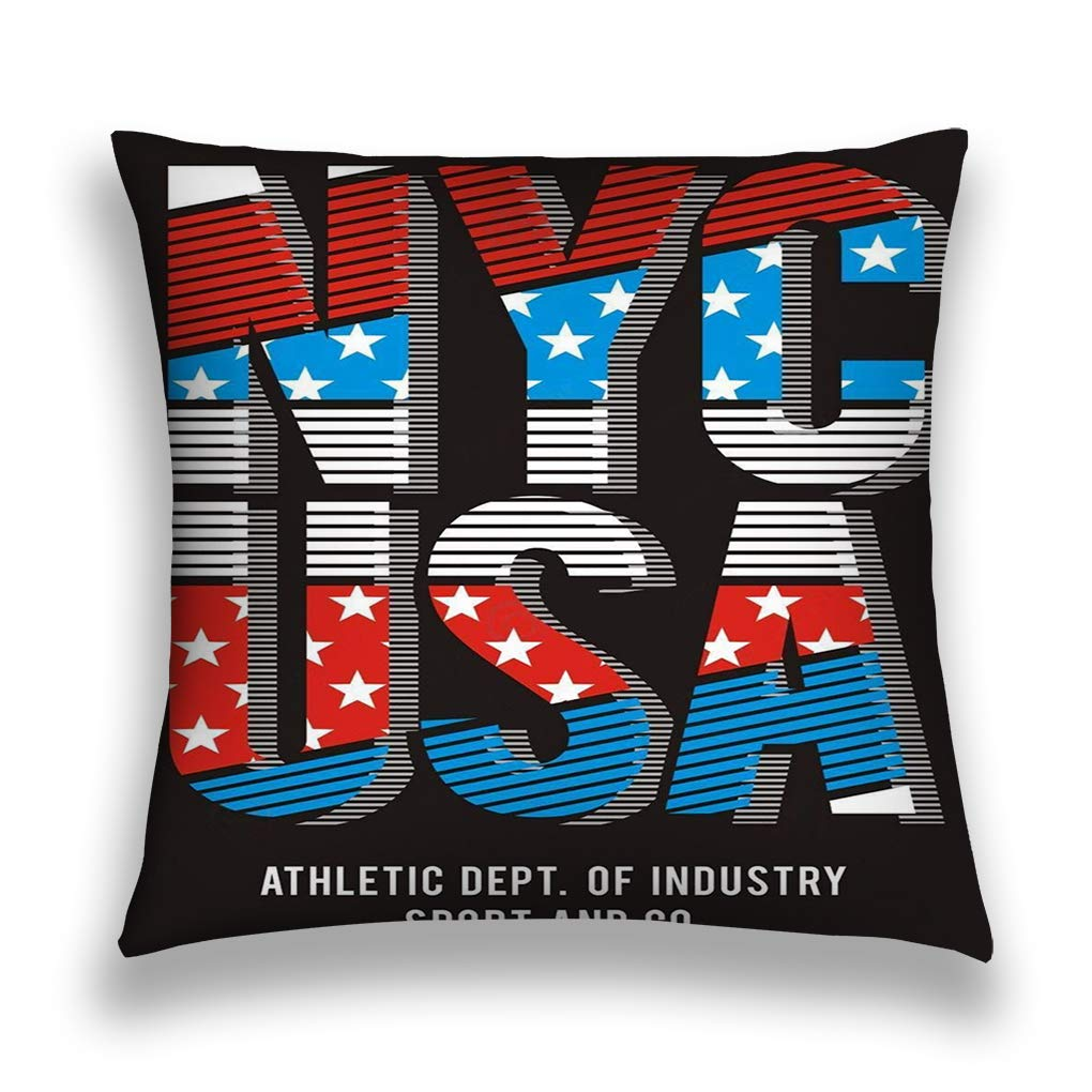Newly American Flag Sofa Bed Home Decoration Festival Pillow Case Cushion Cover