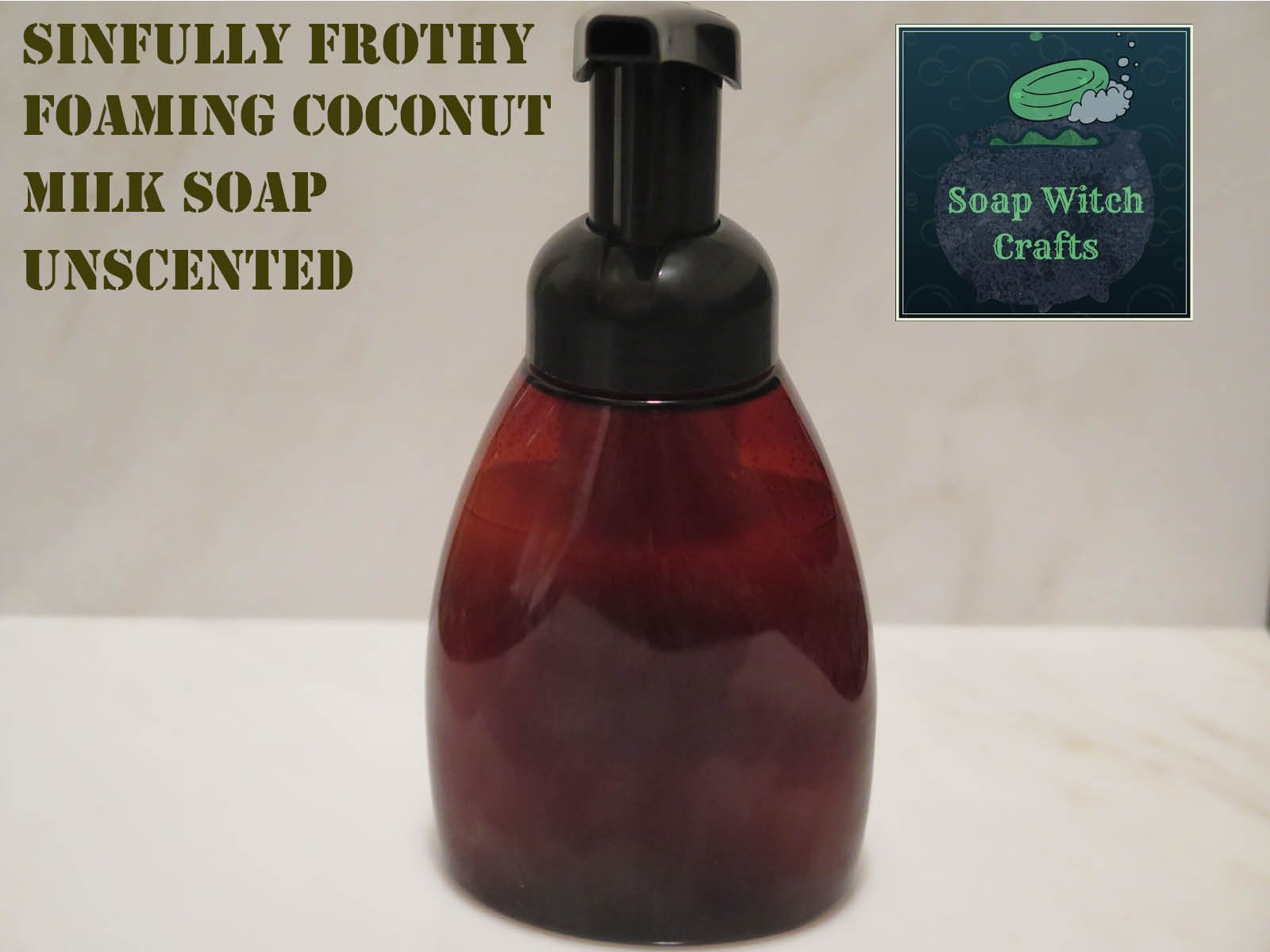 Sinfully Frothy Foaming Coconut Milk Soap - Unscented