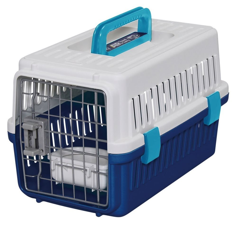 IRIS Extra Small Dog Air Travel Carrier Crate Navy