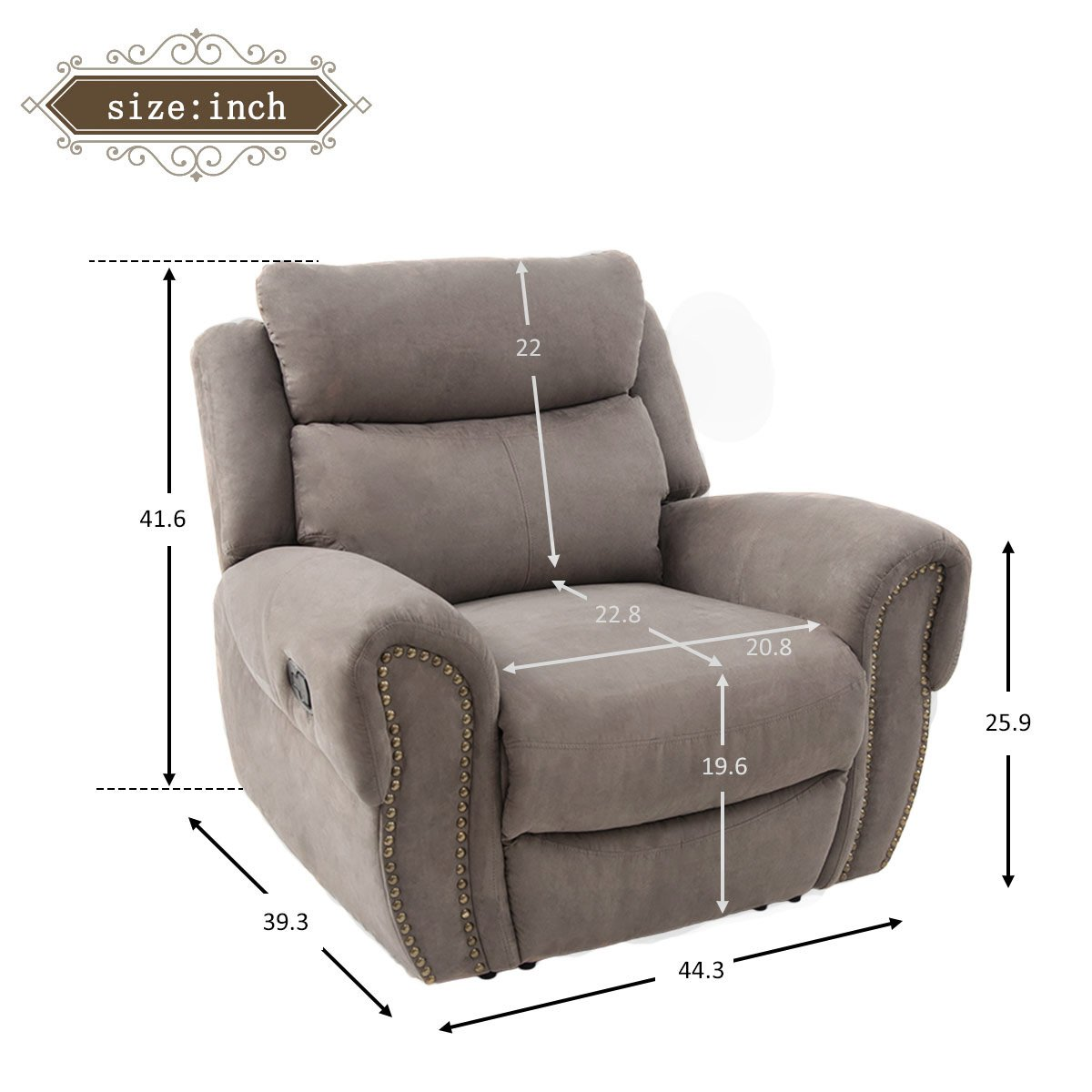 Harper Bright Designs Sectional Sofa Set Including Chair, Loveseat and 3-Seat Sofa Recliner Chair