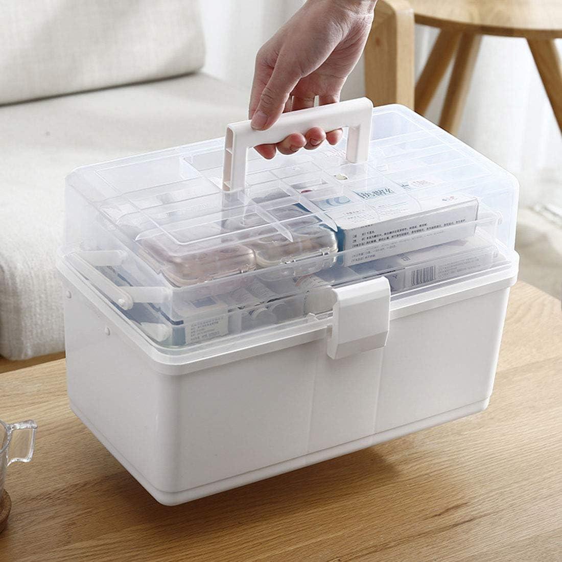 ZUJI Armadietto Medicinali 3-Strato Scatola per Medicinali Portatile Medica Cassetta di Pronto Pillola Stoccaggio Astuccio