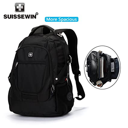 SUISSEWIN Laptop Backpack up to 17 inch Notebook Computer for Women Men  Water Resistant Business Computer 0af033164f