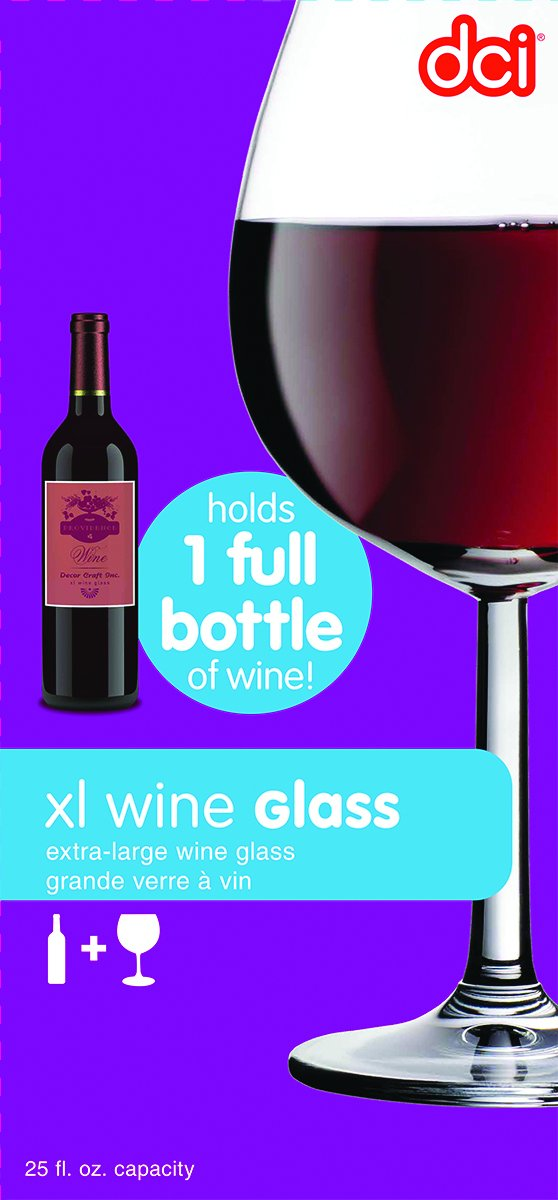 amazoncom dci unique xl wine glass pour in your favorite red wine or white wine fun wine accessory with 750ml capacity perfect christmas present or