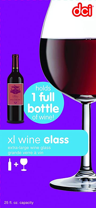 4b8e1454 Amazon.com: DCI XL Wine Glass, Holds a Whole Bottle of Wine: Beer ...