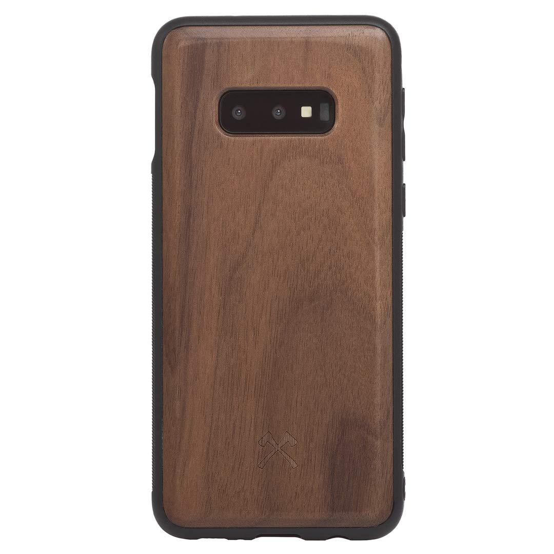 Woodcessories - Case Compatible with Samsung Galaxy S10e Made of Real Wood, EcoBump (Walnut) by Woodcessories