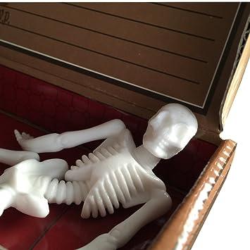 12 X Schaurige Halloween Party Einladungskarte Sarg Gruft Einladung Skelett  Gruselparty Gespensterparty