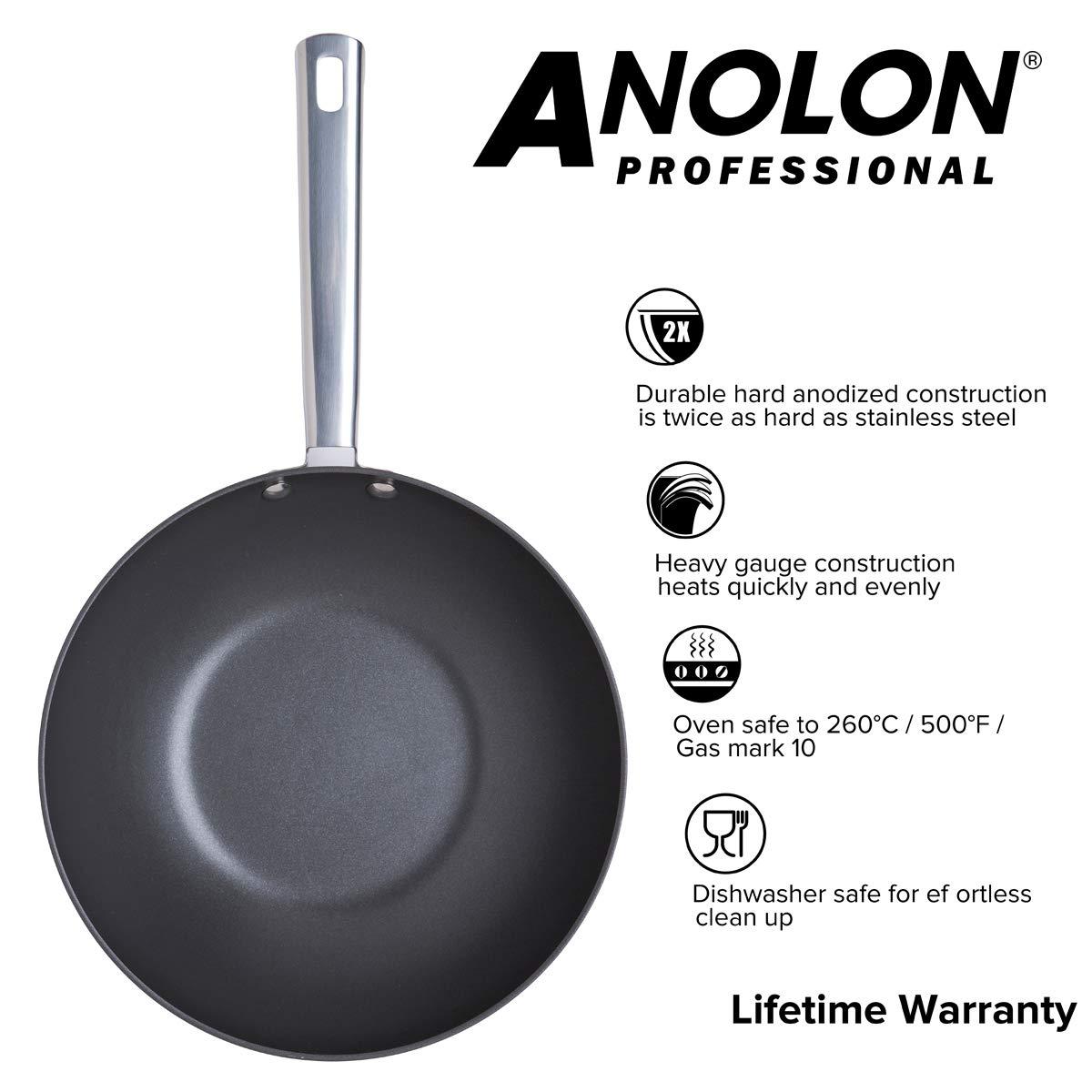 Anolon - Batería de Cocina Profesional anodizada 26 cm ...