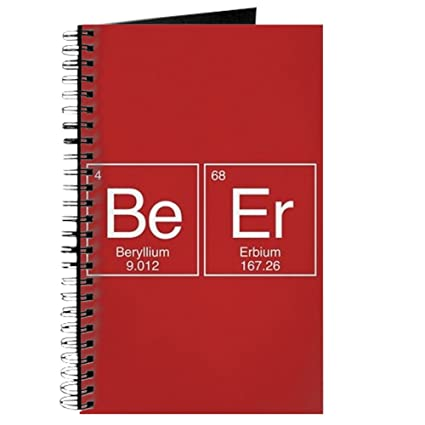 Amazon Cafepress Beer Periodic Table Spiral Bound Journal
