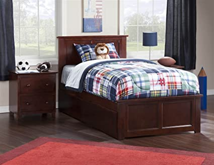 Amazon.com: Atlantic Furniture Contemporary Twin XL Bed with ...