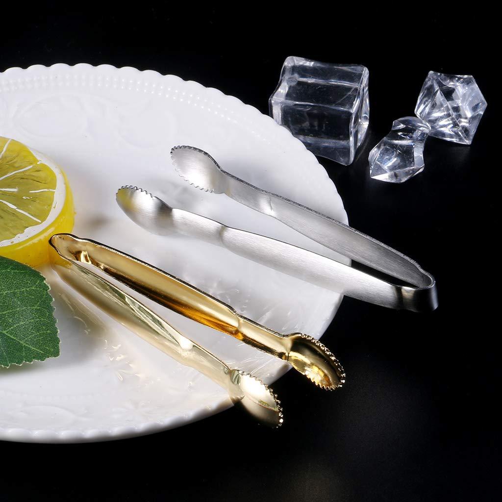 Dorado ZOOMY Acero Inoxidable Pinzas de sujeci/ón de az/úcar Clip Cubo de Hielo Barra de caf/é Buffet Herramientas de Cocina