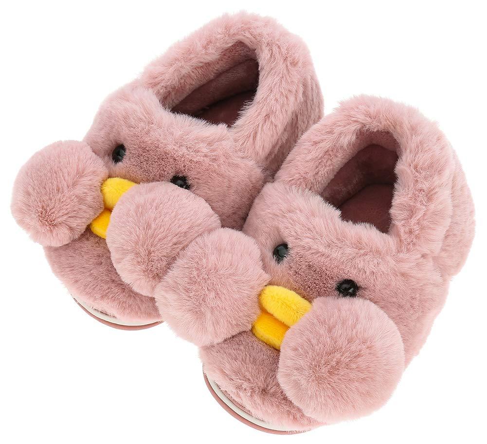 UIESUN Cute Duck Unisex Toddler Kids Slippers Shoes for Boys Girls House Slipper Cherry 14/15