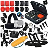 Xtech Accessories Kit for Gopro Hero4 Session, Hero4, Hero 4, Hero 4 Silver Hero 4 Black Hero 3 White Hero 3 Black Hero 3 (38 Items)