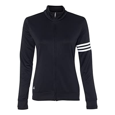 Amazon.com : adidas Ladies' ClimaLite 3-Stripes French Terry Full-Zip Jacket : Clothing