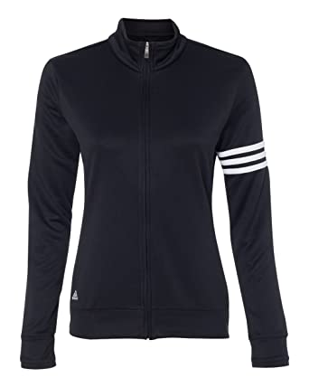 Adidas Ladies' 3-Stripes Full Zip Pullover Jacket A191 at Amazon ...