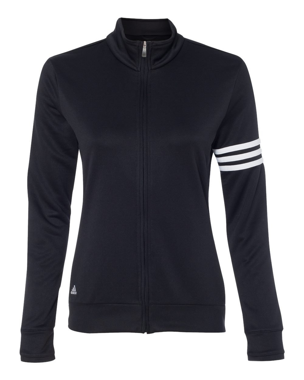 adidas Womens climalite 3-Stripes Pullover A191 -BLACK/ WHITE S