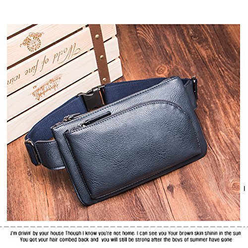 For Leather amp; Aiurbag Blue Sling Crossbody Chest Men Bag Multipurpose Outdoor Backpack Women 8wqvwd