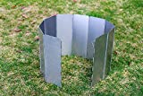 Cheap Folding Camping Stove Windscreen, Tougs Aluminum 10 Plates Compact Folding Camp Stove Wind Screen for Picnic Cooker Outdoor Stove Set