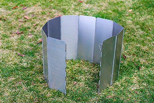 Folding Camping Stove Windscreen, Tougs Aluminum 10 Plates Compact Folding Camp Stove Wind Screen for Picnic Cooker Outdoor Stove Set Review