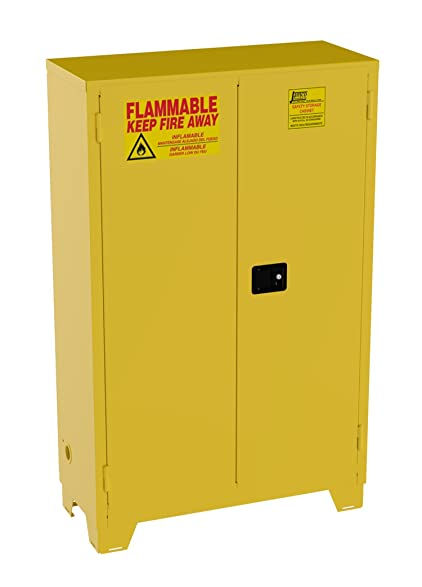 Jamco Products Inc FS45 YP Safety Flammable Cabinet, Self Closing, 43 Inch