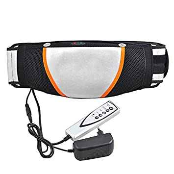 149d7dccb2 Image Unavailable. Image not available for. Color  Genmine Electric  Slimming Belt Vibration Massage Heat Loss Weight Fat Burner Waist ...