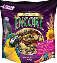 F.M. Brown\'s Encore Parrot Food, 4-Pound