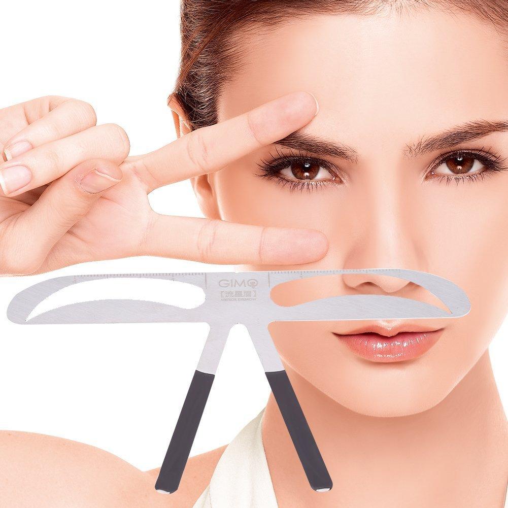 Eyebrow Ruler, Professional Eyebrow Measure Balance Extension Ruler Meteor Eyebrow Shape Stencil Make Up Beauty Accessory Tool Filfeel