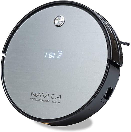 SOGO SS-16075 Robot Aspirador NAVI G-1 | Barre Aspira y Friega | Limpieza Automática | Potente y Silencioso | Para ...