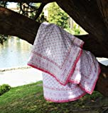 Pink Handmade Hand Block-printed French Country Bohemian Designer Decorative Cotton Girls Quilt
