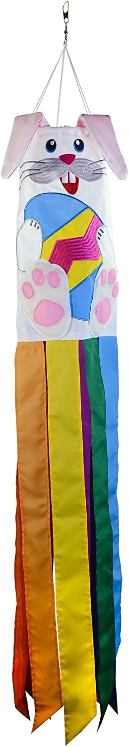 In the Breeze 5052 Bunny 3D Windsock-Easter Holiday Hanging Decoration, 40 Inch