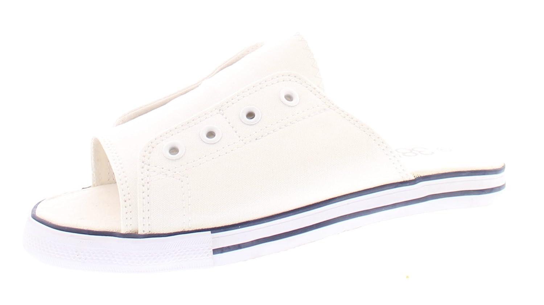 Ace Womens Summer Beach Sandal,Slip On Flat Canvas Sandals,Open Toe Slides for Women,Ladies Cute Flipflop B077WYCVNR 7 B(M) US White