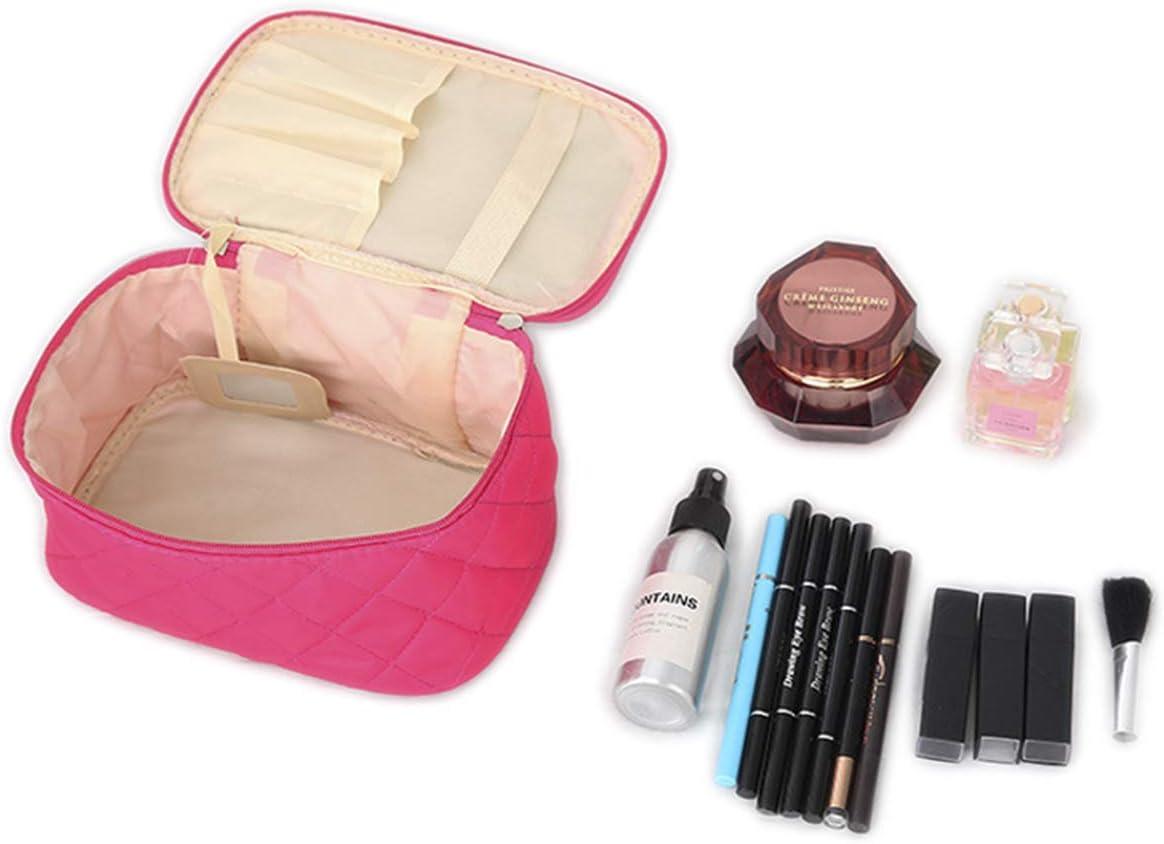 txian Lady Double fermeture /éclair Sac cosm/étique sac /à main Motif /à pois Trousse de toilette maquillage Sac /à main portable sac
