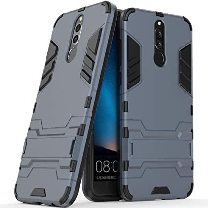 Huawei Mate 10 Lite Case, Huawei Mate 10 Lite Hybrid Case, Dual Layer  Shockproof Hybrid Rugged Case Hard Shell Cover with Kickstand for 5 9''  Huawei