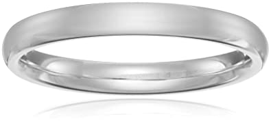 Amazon.com  Classic Fit Platinum Band 9dcbb63a6c
