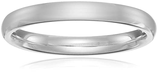 Amazon classic fit platinum wedding band 3mm jewelry classic fit platinum band 3mm size 4 junglespirit