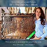 39'' The Old City 99cm Wood carving 3D painting icon orthodox art
