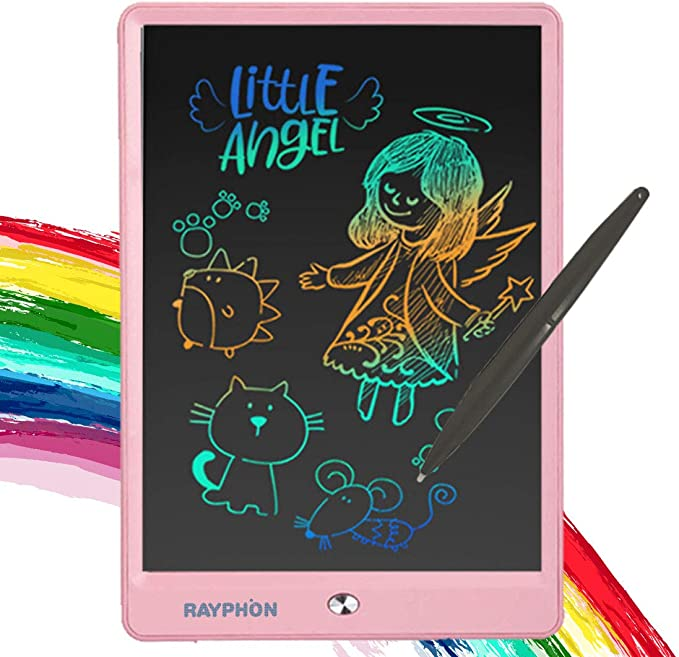 Dygzh LCD Tablet 3 8.5 Inches LCD Flat-Panel Cartoon Charge Child Tablet Painting Board Children The Best Gift LCD Writing Board Color : Blue, Size : 8.5 inches