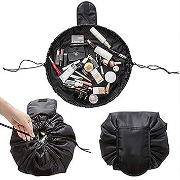 1492dd5eb041 Amazon.com   Cosmetic Bag Women Drawstring Cosmetic Bag Fashion Travel  Makeup Bag Organizer Waterproof Make Up Case Storage Pouch Toiletry Beauty  Kit Box ...