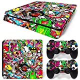GoldenDeal PS4 Slim Console and DualShock 4 Controller Skin Set – Collage Hoonigan – PlayStation 4 Slim Review