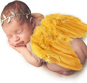 Gold Baby Angel Wings Baby Photo Prop Gold Newborn Angel Wings Gold Baby Angel Wings Gold Angel Wings And Headband Set Newborn Photo Prop