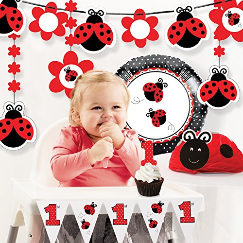 Creative Converting Ladybug Fancy 1st Birthday Party Decorations