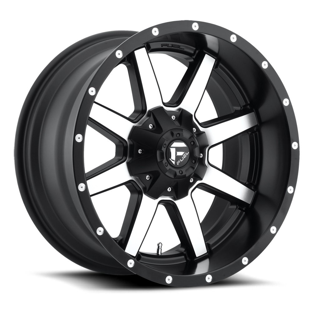 Fuel Maverick 20 Machined Black Wheel / Rim 8x6.5 with a -12mm Offset and a 125.2 Hub Bore. Partnumber D53720008250