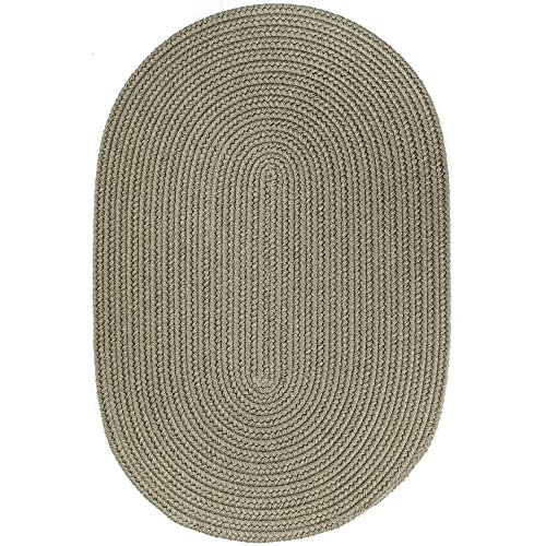 Super Area Rugs Maui Braided Rug Indoor Outdoor Rug Washable Reversible Green Patio Porch Kitchen Carpet, 2' X 3' (Oval Moss Green Area Rugs)