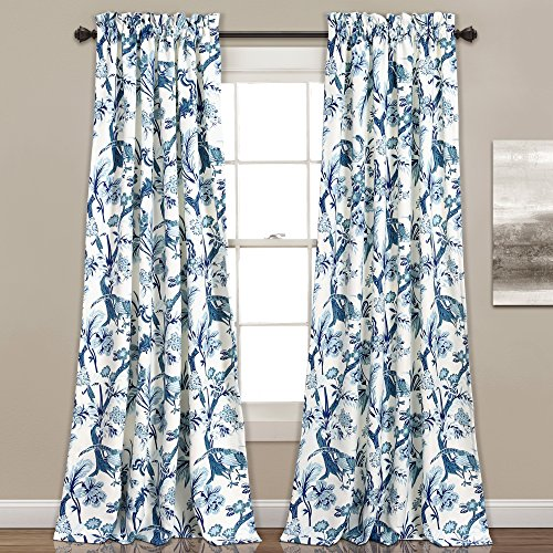 Lush Decor Curtains Dolores Darkening Window Panel Set for Living, Dining Room, Bedroom (Pair), 84