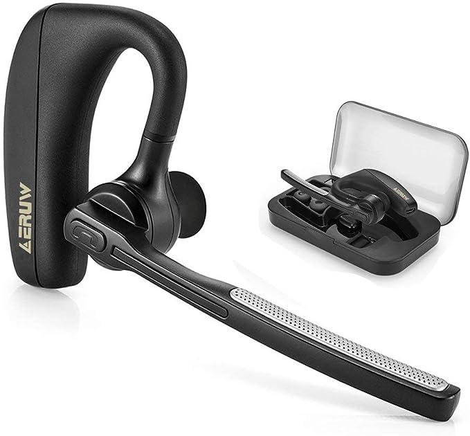 Auriculares Bluetooth, Manos Libres Oreja Auricular inalámbrico Bluetooth V4.1 Auriculares con Reducción de Ruido, Manos libres Auriculares con Micrófono para Oficina: Amazon.es: Electrónica