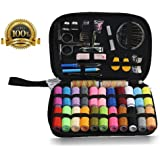 Sewing Kit Bundle - Over 120 Premium Sewing Supplies Kits, Mini Sewing Kit for Travel& Emergencies home with Thimble,Scissors,Thread,Tape Measure,Carrying Case ,Needles and Accessories