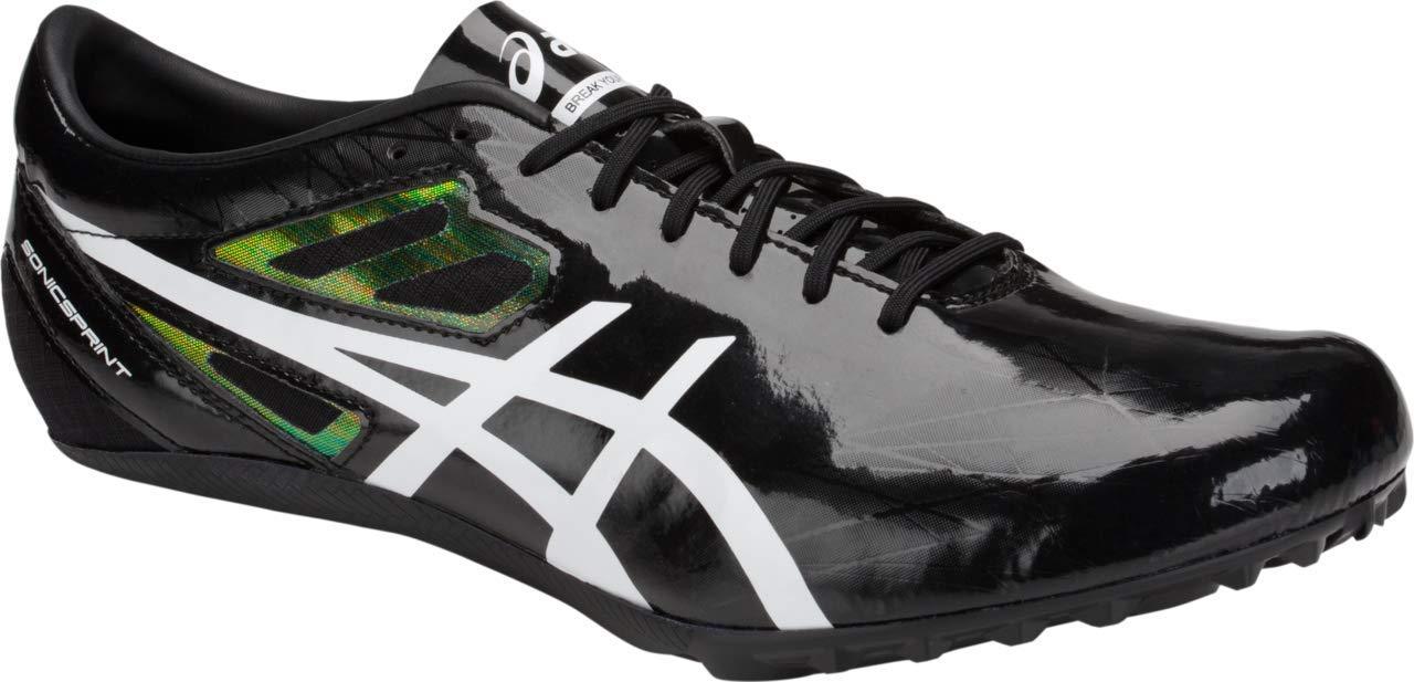 ASICS Sonicsprint Men's Track & Field Shoe, Black/White, 6.5 M US by ASICS (Image #2)