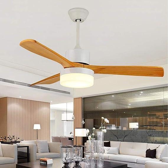 QIULAO Ventilador de techo con luz, luz de ventilador de techo de ...