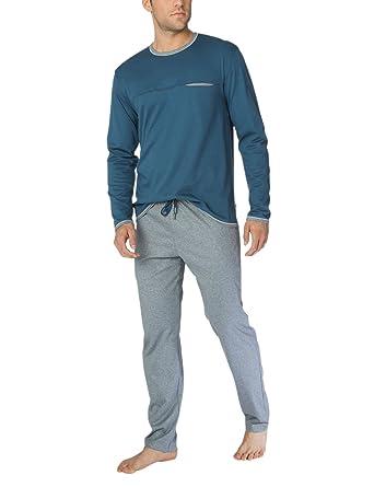 48c3c0fddb7e2e Calida Zweiteiliger Schlafanzug Steve Herren Pyjama: Amazon.de: Bekleidung